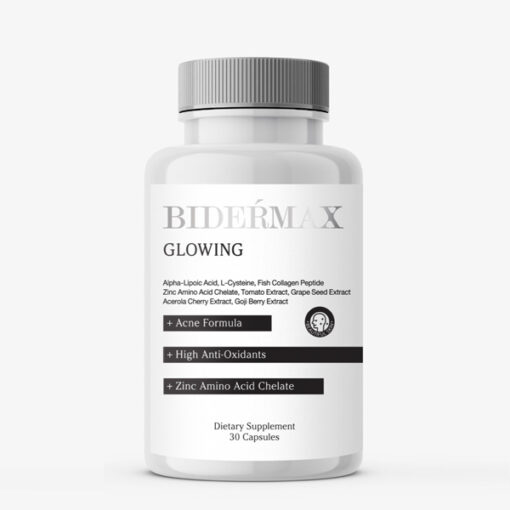 BIDERMAX GLOWING อาหารเสริม ลดสิว ลดผิวมัน ผิวขาวใส ผิวใสใน 2 สัปดาห์
